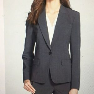 Theory Gray Wool One-button Blazer